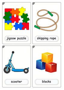 Free Toys Flash Cards These toys flashcards are perfect