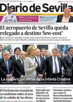 Los Titulares y Portadas de Noticias Destacadas Españolas del 21 de Junio de 2013 del Diario de Sevilla ¿Que le parecio esta Portada de este Diario Español?