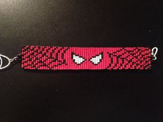 Hey, I found this really awesome Etsy listing at https://www.etsy.com/listing/260923996/marvel-spiderman-seed-bead-bracelet-6-12