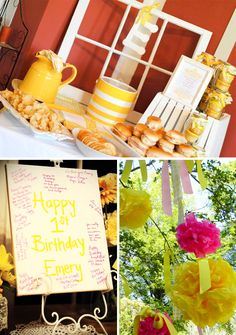 Another cute idea...lemonade stand and lemon bars, cookies and other sweet treats for teacher appreciation!