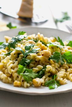 Lemony Pasta With Chickpeas and Parsley Recipe - NYT Cooking