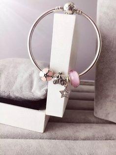 50% OFF!!! $139 Pandora Bangle Charm Bracelet Pink. Hot Sale!!! SKU: CB01637 - PANDORA Bracelet Ideas