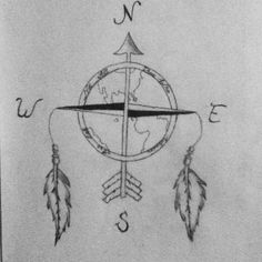 """A mix of a compass and a dream catcher thats say """"Not All Those Who Wander Are Lost"""" tattoo idea?"""