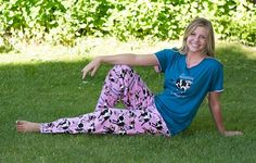 Moody in the Morning Cow Women's PJ Pant