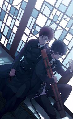 Tags: Anime, Sad, Stained Glass, Window, Keys, Ao no Exorcist, Okumura Rin