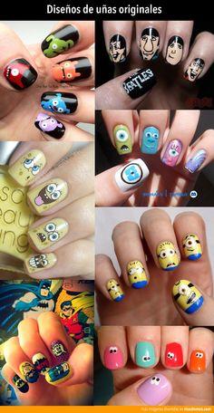 Diseños de uñas originales.