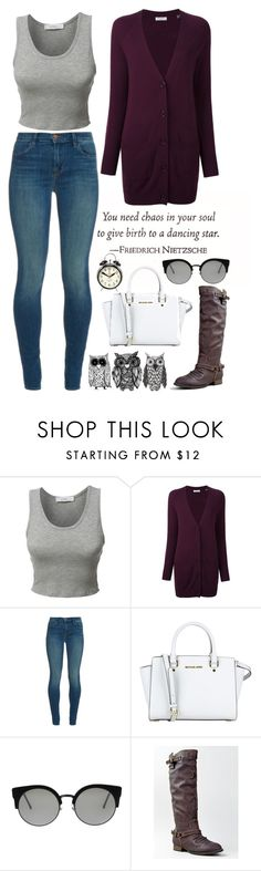 """Untitled #23"" by laurens-choice ❤ liked on Polyvore featuring LE3NO, Equipment, J Brand, MICHAEL Michael Kors, RetroSuperFuture, Breckelle's, INDIE HAIR, Newgate, red and beautiful"