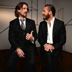 Christian Bale and Tom Hardy