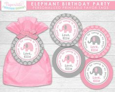 SALE 20% off Elephant Theme LARGE Birthday by PapercutsPartyShop