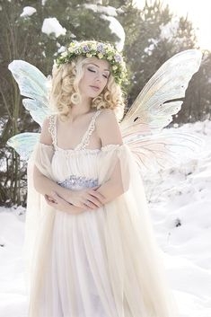 Snow Dream #fairy -http://www.fancyfairy.com/titaniawings.html