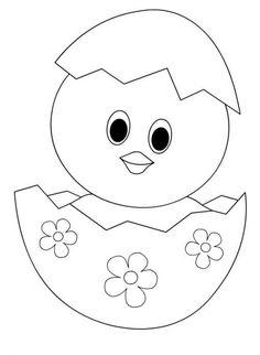 Tranh tô màu gà con trong trứng Easter Drawings, Art Drawings For Kids, Drawing For Kids, Cute Drawings, Easter Coloring Pages, Colouring Pages, Coloring Books, Easter Crafts For Kids, Diy For Kids