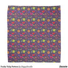 Funky Tulip Pattern Bandana