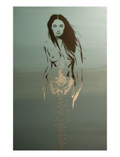 MERMAID of the Salton Sea Original Painting 15 x 30 Stencil and Spray Paint Original Artwork Fantasy Graffit Pop Art Inspired. $89.00, via Etsy. Intriguing