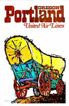 Portland, Oregon ▪ United Air Lines by Jebary #travel #poster (1969)