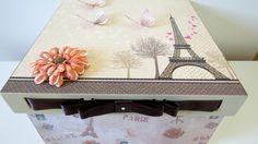 Caixa Paris passa fita   Mundo Craft Ateliê   Elo7