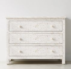 I love white inlay furniture // Laila Mosaic Dresser