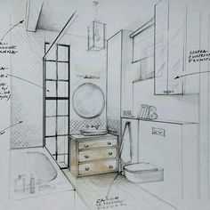 sketch of the bathroom 157 likes 5 comments interior designer pe2_magdalena_sobula on instagram