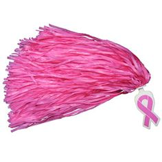 In Stock Breast Cancer Awareness Ribbon Rooter Poms - Awareness Pink by Cheerleading Company
