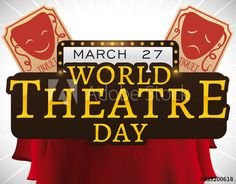 Sign with Tickets and Curtains ready for World Theatre Day, Vector Illustration - Buy this stock vector and explore similar vectors at Adobe Stock World Theatre Day, Curtains, Signs, Illustration, Image, Blinds, Shop Signs, Illustrations, Draping