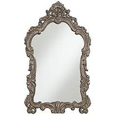"Bacaro Dark Bronze Crown Top 36""x59 1/2"" Large Mirror"
