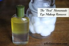 coconut, olive oils, homemade eye makeup remover, beauti, remov waterproof, natural cosmetics, witch hazel, eyes, homemad eye