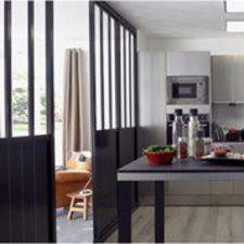 Cloison amovible atelier noir h240 x l80 cm