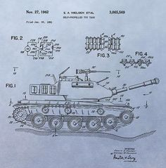 Toy Army Tank Patent