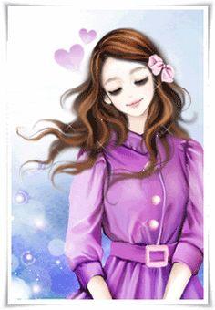 cute anime y Korean Anime, Korean Art, Cute Korean, Lovely Girl Image, Girls Image, Girl Cartoon, Cute Cartoon, Gifs, Girly Drawings