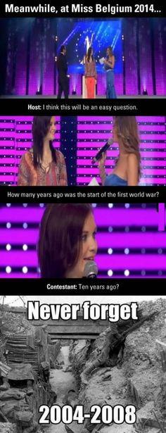 Miss Belgium #Question, #War