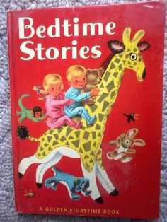 VINTAGE BEDTIME STORIES GOLDEN STORYTIME BOOK-KATHRYN JACKSON RICHARD SCARRY HB