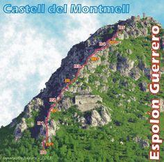 Vía Espolón Guerrero (IV+ 170 m) (Joncosa de Montmell, Tarragona)