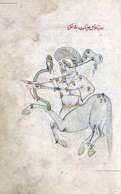 Abd ar-Rahman al-Sufi. Book of Fixed Stars / (Liber Lucis Stellarum Fixarum) , 964 CE. Illustrations from 1417. Manuscript reproduced 1730.