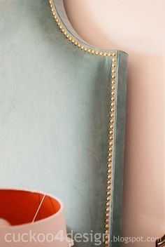 DIY headboard tutorial with individual brass nails - Cuckoo4Design#_a5y_p=3167251