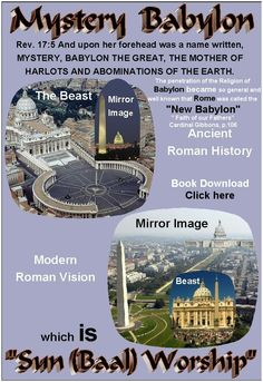 """Roman Catholic Church today is the CENTER of SUN WORSHIP,(Real Illuminati) which is """"Sun (Baal) Worship""""(Mystery Babylon) the """"Grand Design Exposed"""""""