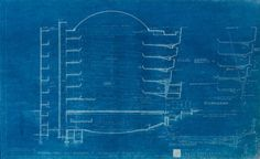 The Quick Ramp is depicted on the left-hand side of this section drawing from the 1953 presentation set produced for Harry Guggenheim. Solomon R. Guggenheim Museum Archives, New York, NY