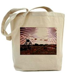 @FlawnOcho Celebrates #BikeMonth Electrified Afternoon Tote Bag