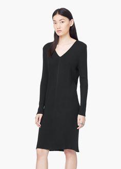 Ribbed long dress -  Women | MANGO