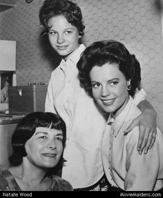 Lana Wood,Natalie Wood and their mother