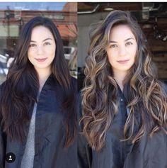Beautiful hair. #lightbrown #balayage #brunette #hairtransformation #natural