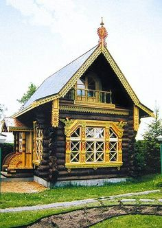 Russian wooden house. #Russian #wooden #house