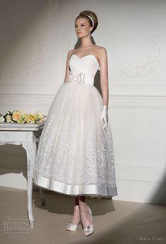 Novia D'art Tea length wedding dress ♥ #Wedding