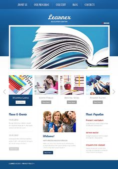Web design with a split personality. on Behance Wordpress Template, Wordpress Theme, Responsive Site, Types Of Websites, Education Center, Website Design Inspiration, Website Template, University, Templates