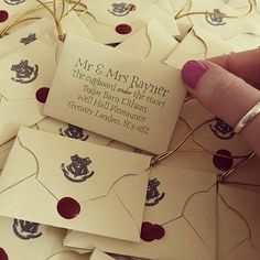 Or these personalised Hogwarts letters. | 27 Things You Need To Have A Classy AF Harry Potter Wedding