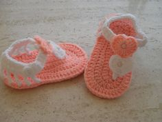 Crochet Baby Sandals,Crochet Baby Shoes,Crochet Baby Booties Size 6 to 9 Months