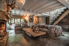 Lodge met balken plafond en Cement Design vloer | Creative Minds International