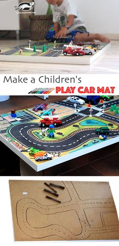 Make a Children's Play Car Mat | It all began with an IKEA board for this simply DIY idea to make a children's play car mat. Your little one will adore his new play mat where he can park, drive and arrange his toy cars on it.