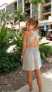 DIY Cut Out Back Dress #DIY #Sewing #Sew #Clothes #Dresses