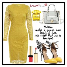 """Yellow friday!"" by b-necka ❤ liked on Polyvore featuring Yves Saint Laurent and Versace"