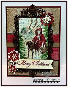 Mixed Media Christmas- Winter Walk with Snow Crystals