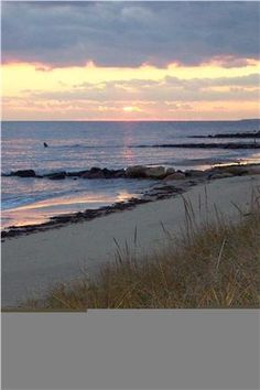 Sunset at Sea Street Beach Dennis Port on Cape Cod